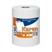 Ręcznik papierowy rola 1w Mini biały celuloza Karen