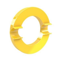 Magnes tablic 90mm XL żółty Dahle okrąg