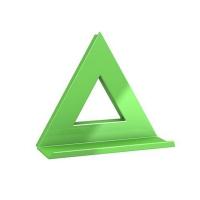 Magnes tablic 75x75 XL zielony Dahle trójkąt