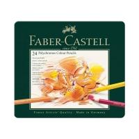 Kredki ołówkowe 24kol metalowe opakowanie Faber Castell Polychromos FC110024