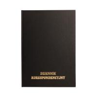 Książka korespondencyjna A4/96 czarna TO KIN