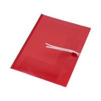 Teczka wiązana A4/PP czerwona Biurfol