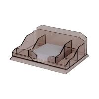 Przybornik biurko dymny plastikowy Has