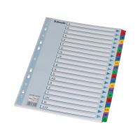 Przekładki kartonowe A4 A-Z kolorowe Mylar