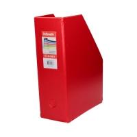 Pojemnik czasopisma 100mm czerwony składany Vivida Esselte