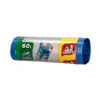 Worki śmieci 60l niebieskie wiązane EasyPack (20)