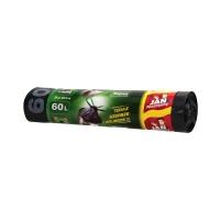 Worki śmieci 60l czarne taśma JNMagnum (10)