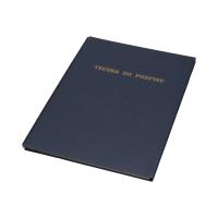 Książka podpis 8k granatowa Delfin