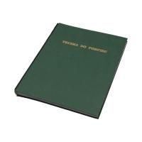 Książka podpis 19k ciemnozielona Delfin