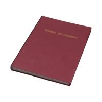 Książka podpis 19k bordowa Delfin