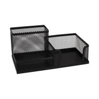 Przybornik biurko czarny siatka Leviatan 009150