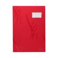 Książka podpis 18p czerwona Leitz