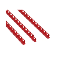 Grzbiet plastikowy 10mm czerwony 65k Argo