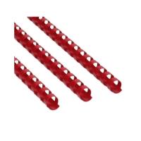 Grzbiet plastikowy 12,5mm czerwony 105k Argo