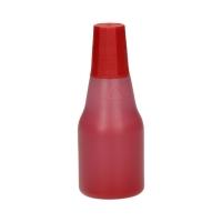 Tusz stemple 25ml czerwony metalowe Colop