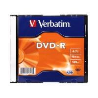 Płyta DVD-R slim 16x Verbatim 4.7GB 43547