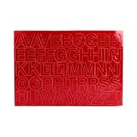 Litery samoprzylepne 30mm czerwone