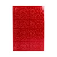 Cyfry samoprzylepne 20mm czerwone