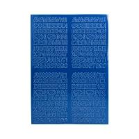 Litery samoprzylepne 10mm niebieskie