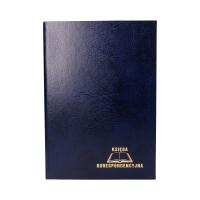 Książka korespondencyjna A4/300 granatowa Warta