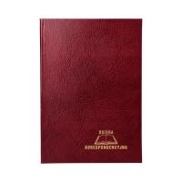 Książka korespondencyjna A4/192 bordowa Warta