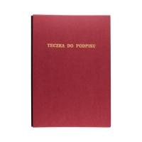 Książka podpis 15k bordowa Delfin