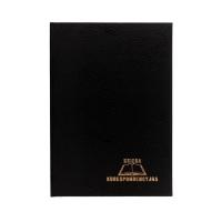 Książka korespondencyjna A4/96 czarna Warta