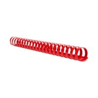 Grzbiet plastikowy 25mm czerwony 240k Argo