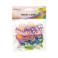 Naklejka ozdobna pianki cyrkonie Kwiatki Brewis (48+20)