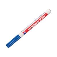 Marker olejowy 1.0-2.0mm niebieski okrągły Edding 751