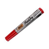 Marker permanentny 1.7mm czerwony okrągły Bic