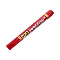 Marker permanentny 1.1mm czerwony okrągły Pentel N850