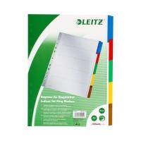 Przekładki kartonowe A4 5k kolorowe Leitz