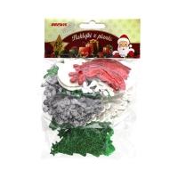 Naklejka ozdobna pianki brokat choinki/śnież/g Brewis (48)