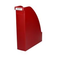Pojemnik czasopisma 80mm czerwony Plus Leitz