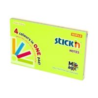 Karteczki samoprzylepne 76x127 4kol neon StickN 21573
