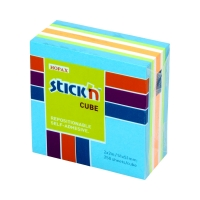 Karteczki samoprzylepne 51x51/250 niebiesk neon/past StickN