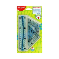 Zestaw linijek gumowy/uchwyt Flex Maped 244069