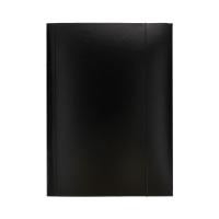 Teczka gumka A4 czarna lakier Esselte