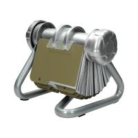 Wizytownik - kartoteka obrotowa na 400 wizytówek srebrna