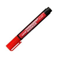 Marker permanentny 1.0-4.5mm czerwony ścięty Uni NO-380B