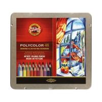 Kredki ołówkowe 48kol metalowe/opak Polycolor KIN