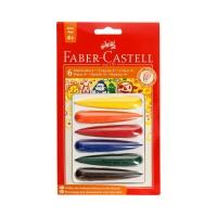 Kredki świecowe 6kol FaberCastel FC120404