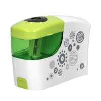 Temperówka automatyczna na baterie zielono-biała Tetis