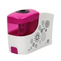 Temperówka automatyczna na baterie różowo-biała Tetis