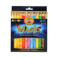 Kredki ołówkowe 3w1 - 12kol + 1 Magic Trio Koh-I-Noor 3408