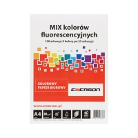 Papier ksero A4 80g mix/fluo Emerson (100)