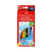 Kredki ołówkowe 12kol trójkątne Eko Faber Castell FC120523