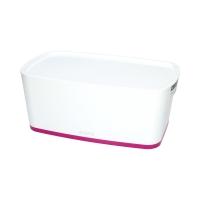 Pojemnik mały z pokrywką biało/różowy MyBox Leitz