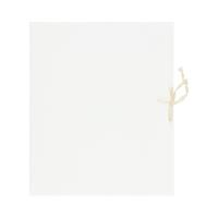 Teczka wiązana 320x250x50 biała 240g Idest bezkwasowa